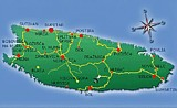 Search accommodation on Brac island by map